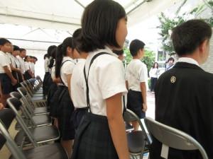 広瀬小生徒の皆さんによる合唱「青い空は」